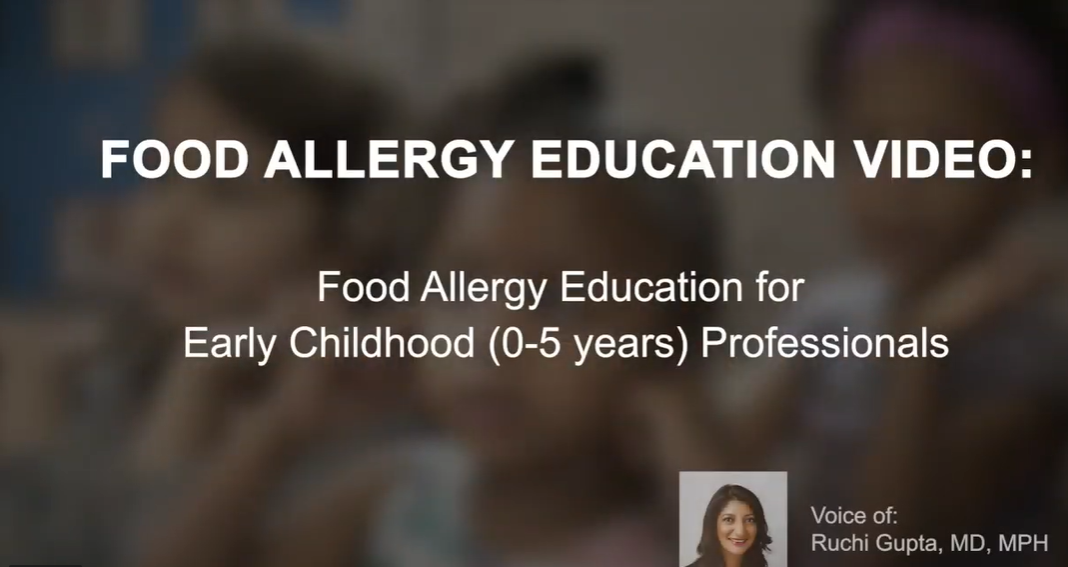 Early Childhood and Food Allergies- Teacher Video in English