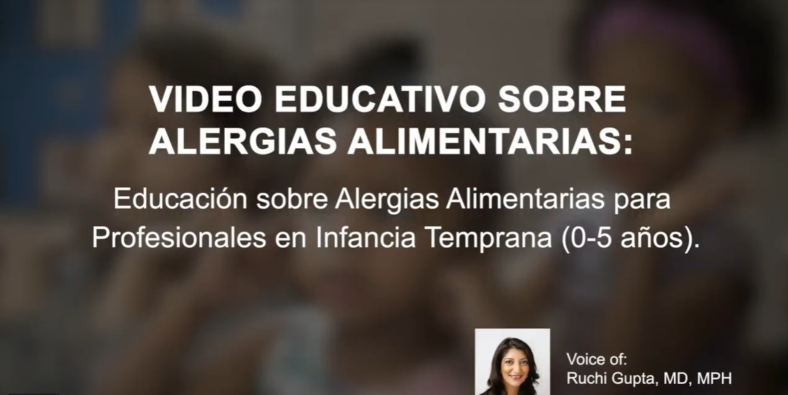 Early Childhood and Food Allergies- Teacher Video in Spanish