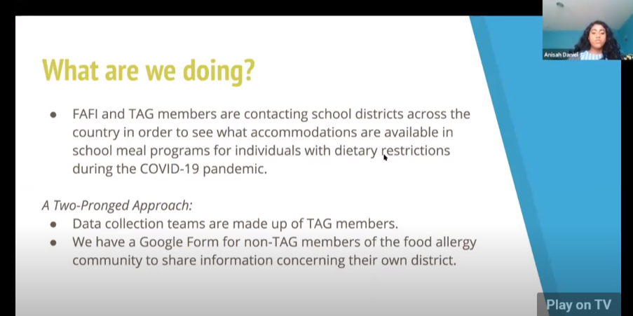 Food Insecurity & TAG What TAG Can Do