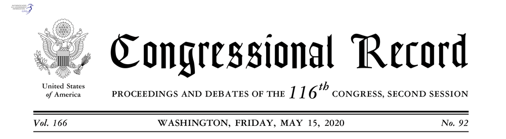 Congressional Record Header