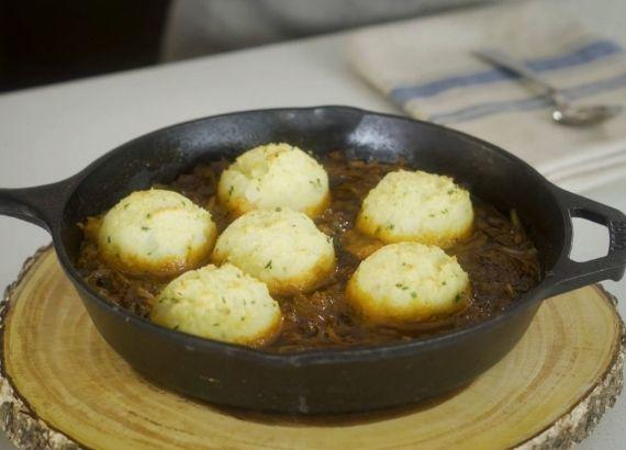 Austrian Mushroom Goulash with Potato Dumplings