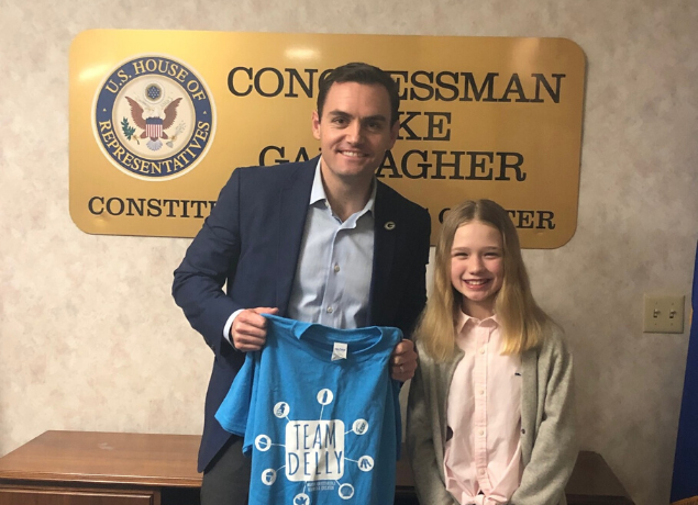 girl meeting with congressman